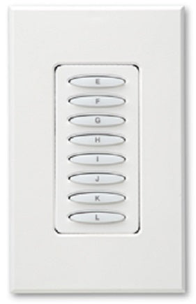 PulseWorx KPCW-8: Keypad Controller, Wall Mount, 8-Button