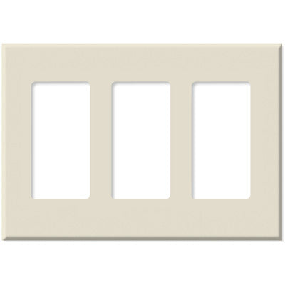PulseWorx WCP-3: Wall Switch Cover Plate, Three Gang - Screwless