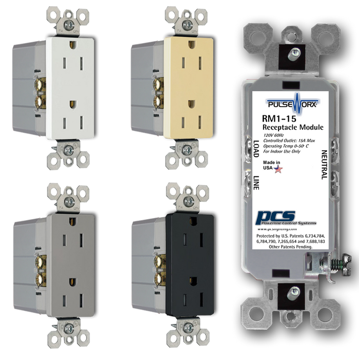 PulseWorx RM1-15: Receptacle Module - Relay, 1 Channel, 15A Max