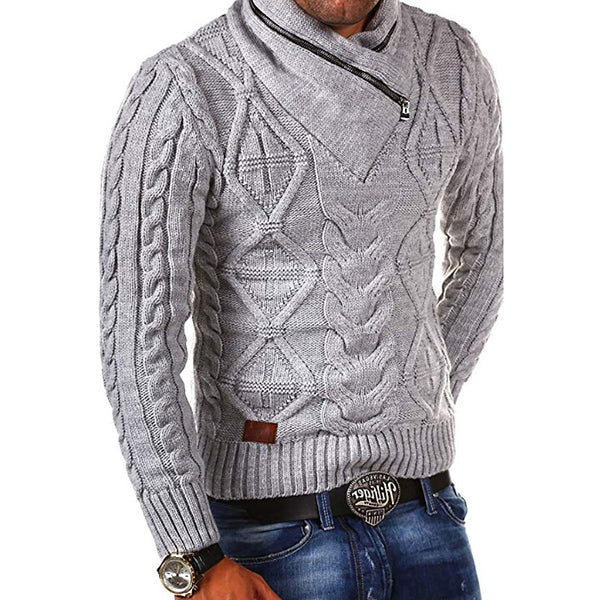 Herbst / Winter Herren Pure Color Retro Distressed Strickpullis