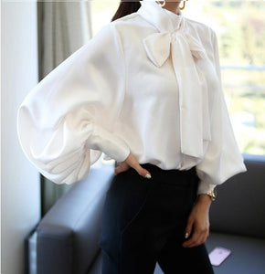 Bow Tie Formal Ladies Tops
