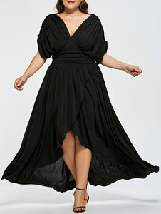 Plus Size Empire Waist High Low  Dress