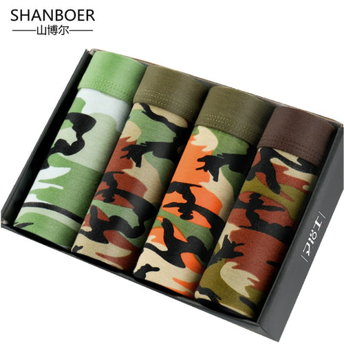 4 pieces Camo Men's Boxer's