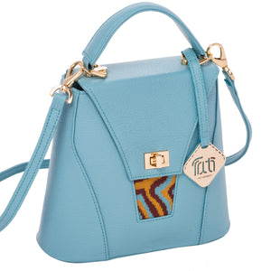 Designer Handbag -  AGATE Mini Collection: Turquoise