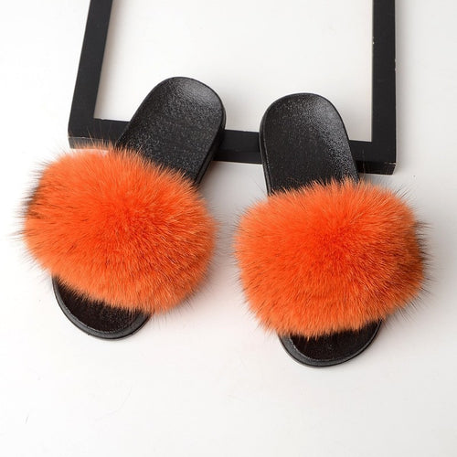 Real Fox Fur Slippers - Additional Colors