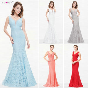 Lace Mermaid Prom Dress
