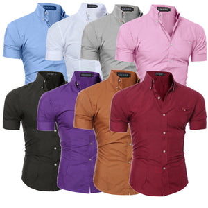 Luxury Men's Slim Fit Shirt - Short Sleeve