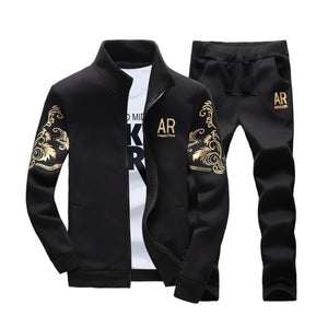 Men's 2 Pieces Tracksuit Outwear Hoodie