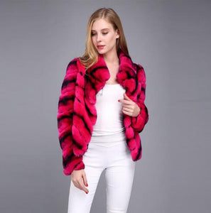 New fall collections beautiful lovly Red Chinchilla fur coats