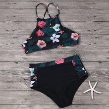 Load image into Gallery viewer, High Waist Leaf Floral Printed Bikini