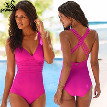 Load image into Gallery viewer, One Piece Swimsuit Women Vintage Bathing Suits