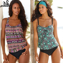 Load image into Gallery viewer, Swimsuit Tankini Sets - Vintage Beach Wear