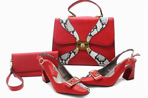 White Italian designs Shoes with matching Bag
