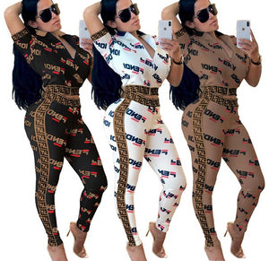 Women's designer jackets legging outfits 2 piece set tracksuit