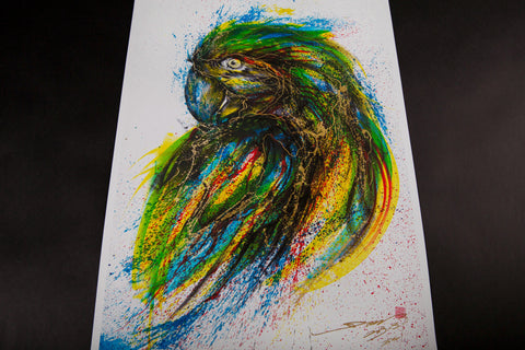 """PARROT"" by HUA TUNAN, limited edition of 100"