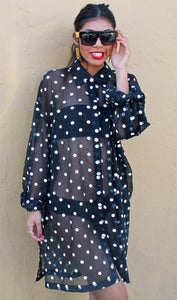 'Fly Girl' Polka Dot Dress