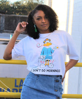 """I Don't Do Mornings"" Crop Top"
