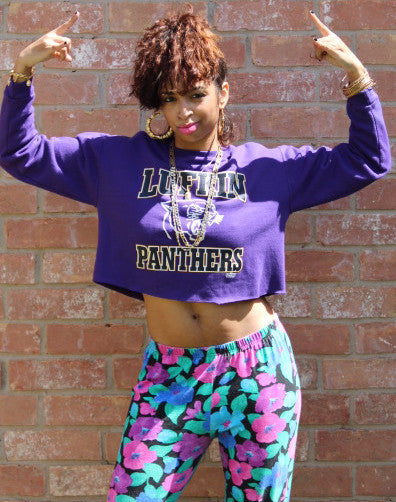 'Lufkin Panthers' Crop Sweatshirt