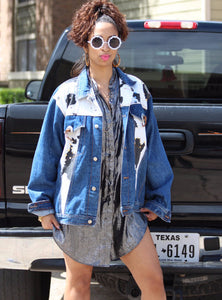 'Cute Moo' Denim Jacket
