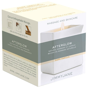 Jimmyjane After Glow Natural Massage Oil Candle- Dark Vanilla