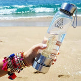 Clear Quartz Crystal Elixir Water Bottle