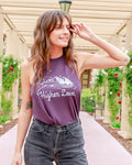 Higher Love - Dark Purple Slinky Muscle Tee