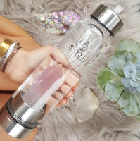Amethyst Quartz Crystal Elixir Water Bottle