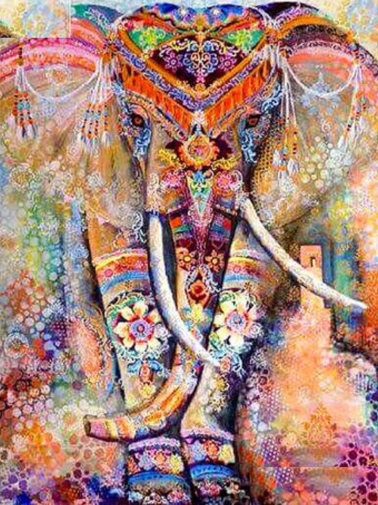 Diamond Painting Elephant Multicolore Kit Complet Broderie