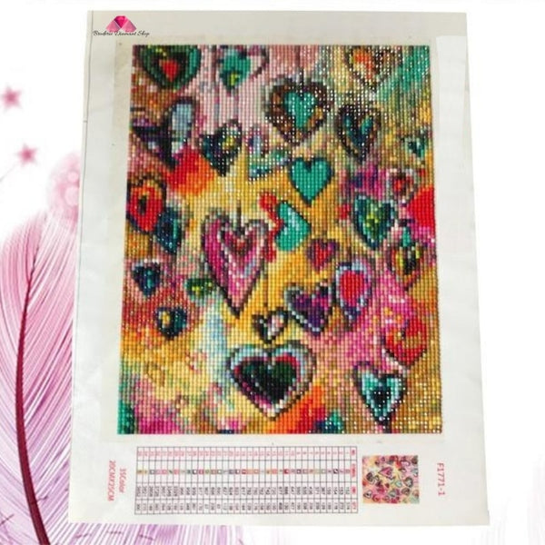 diagramme broderie diamant coeur