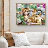 cadre diamond painting chatons et papillons