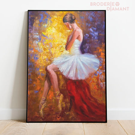 Danseuse assise broderie diamant