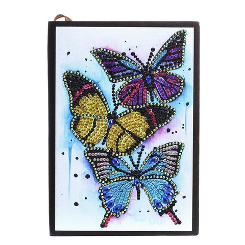 Broderie Diamant Agenda Papillons
