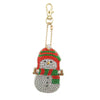 broderie diamant noel decoration bonhomme de neige