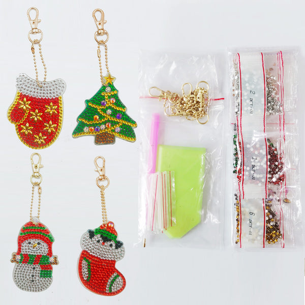 Kit complet decoration broderie diamant de noel