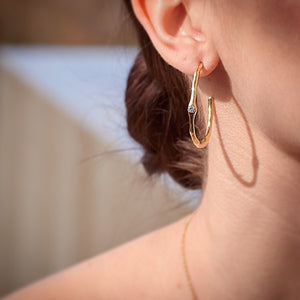 Lava hoops, bronze