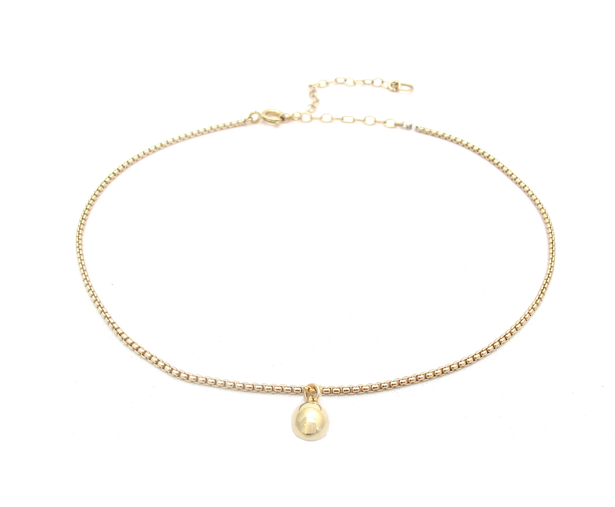 Ball & Box chain, gold