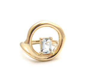 Chelsea aquamarine  ring