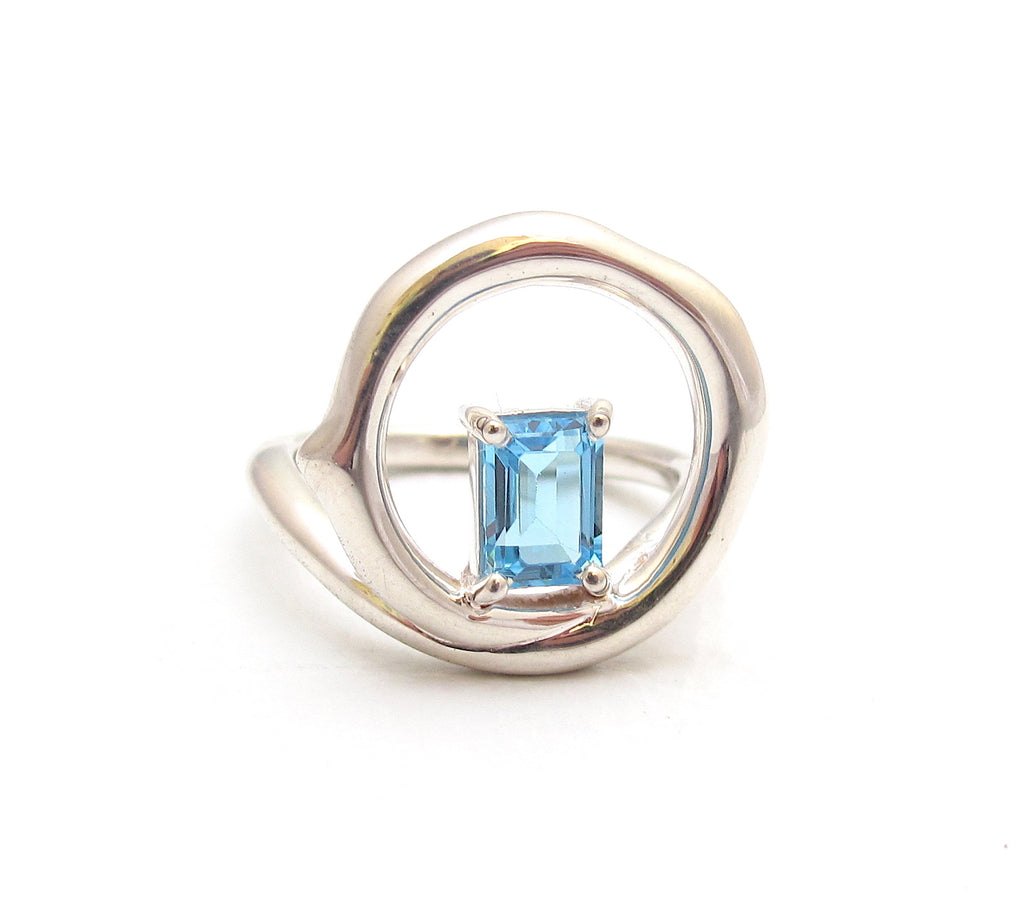 Chelsea blue topaz ring