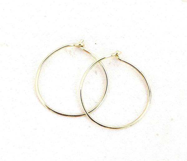 Handmade hoops, gold