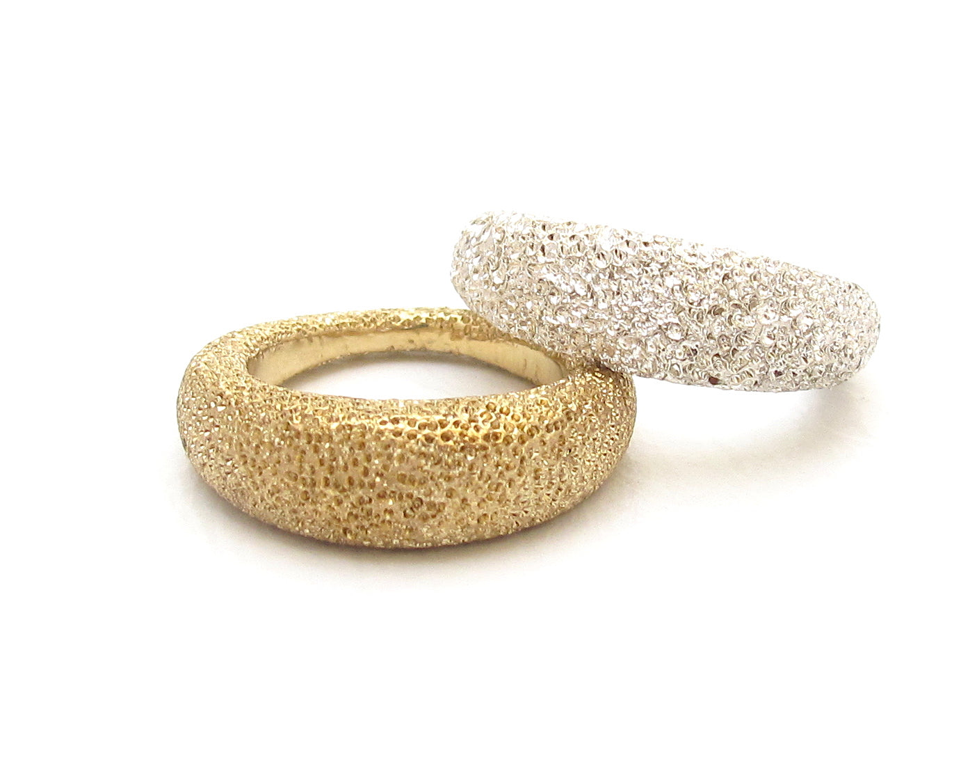 Cay ring, bronze + silver