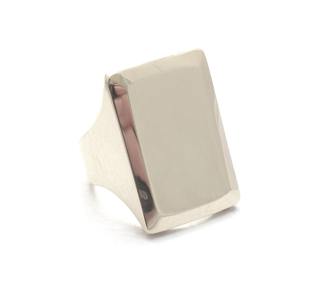 Classic silver signet ring
