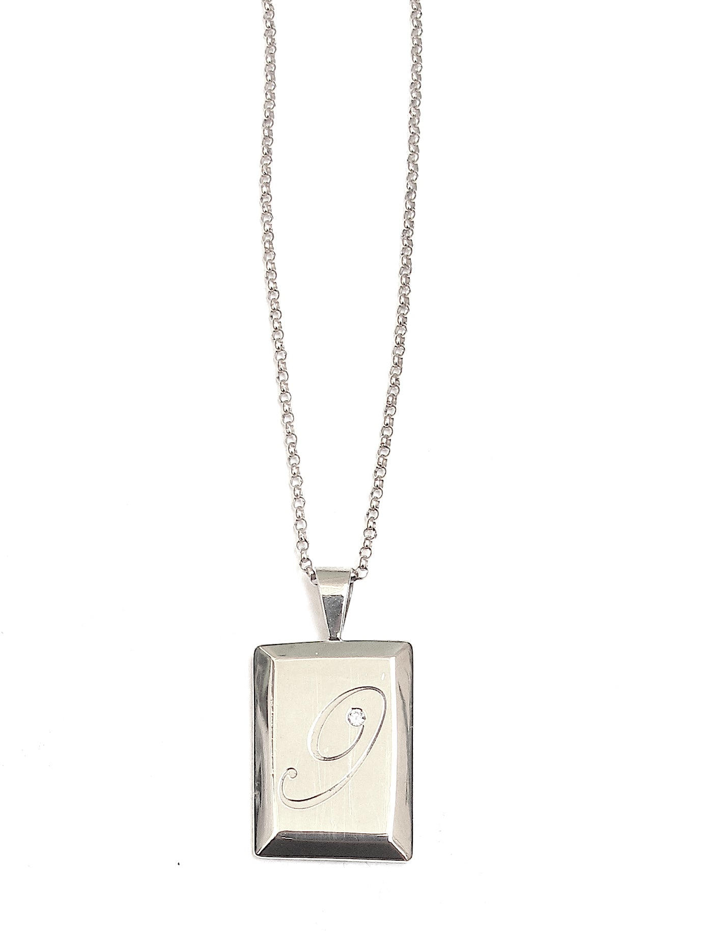 Initial Signet, silver