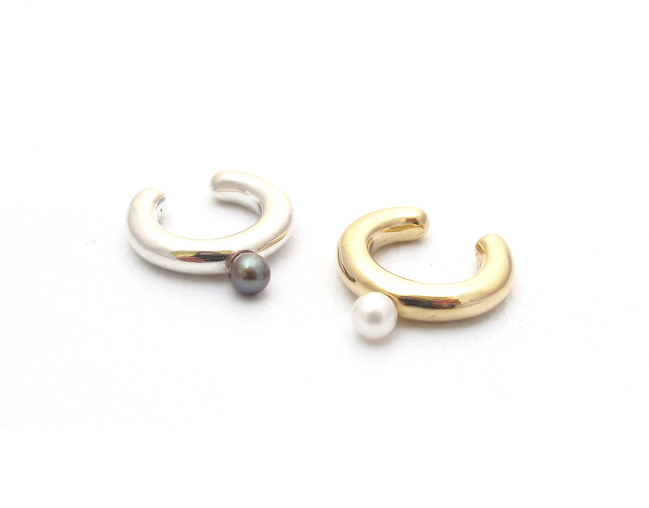 Pebble Ear Cuff, pearl