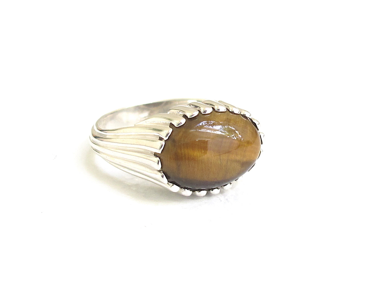 Ridge Tiger's Eye ring
