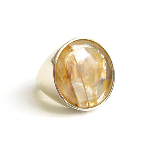 Balloon Golden quartz ring