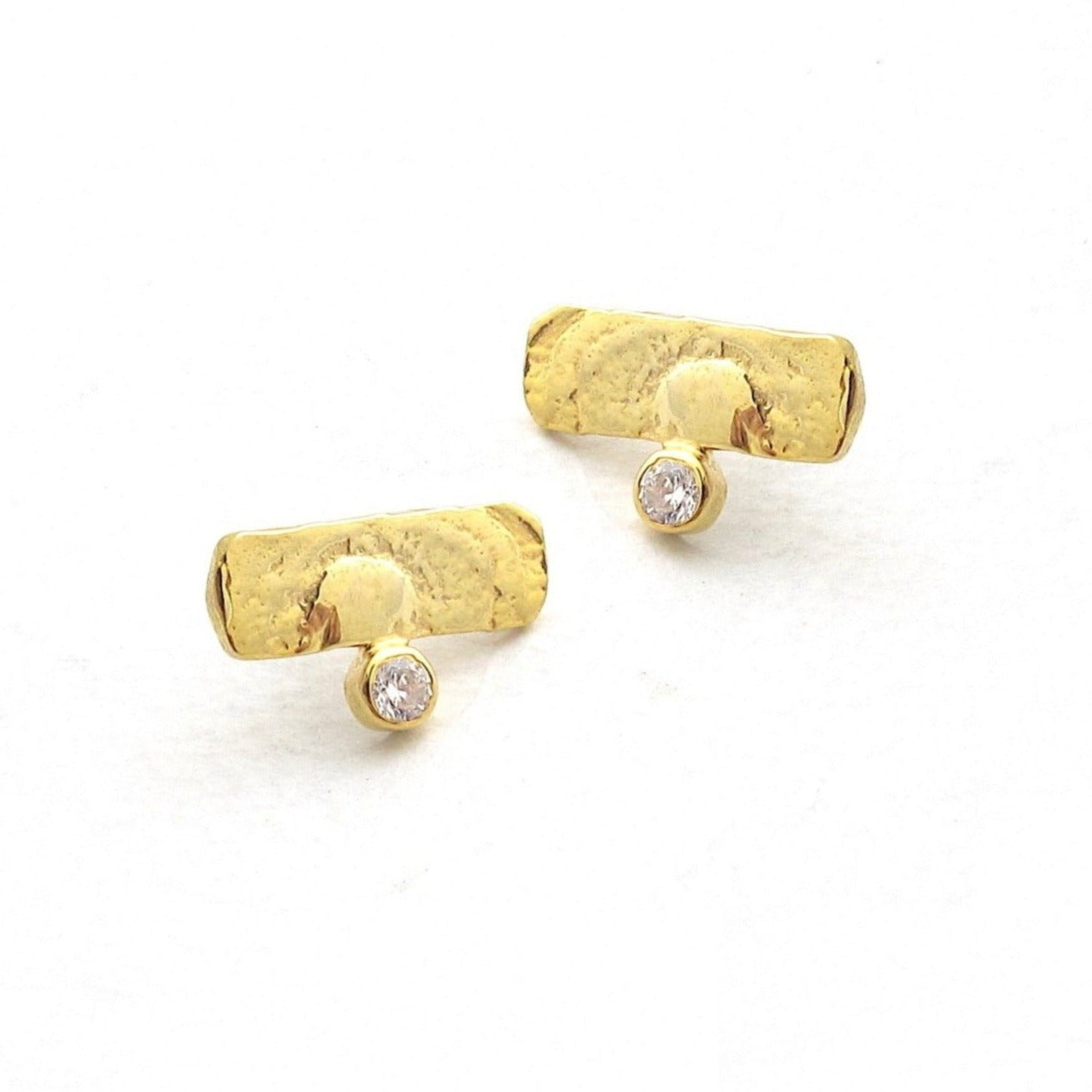 Fragment diamond stud earring