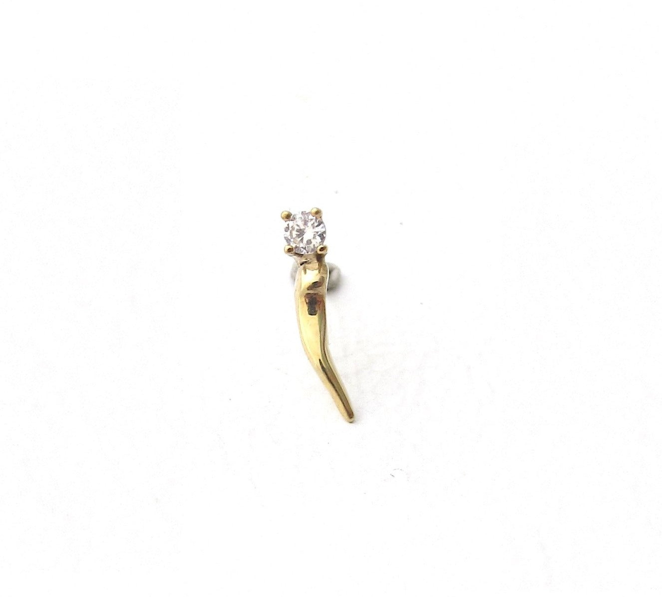 Thorn diamond stud earring