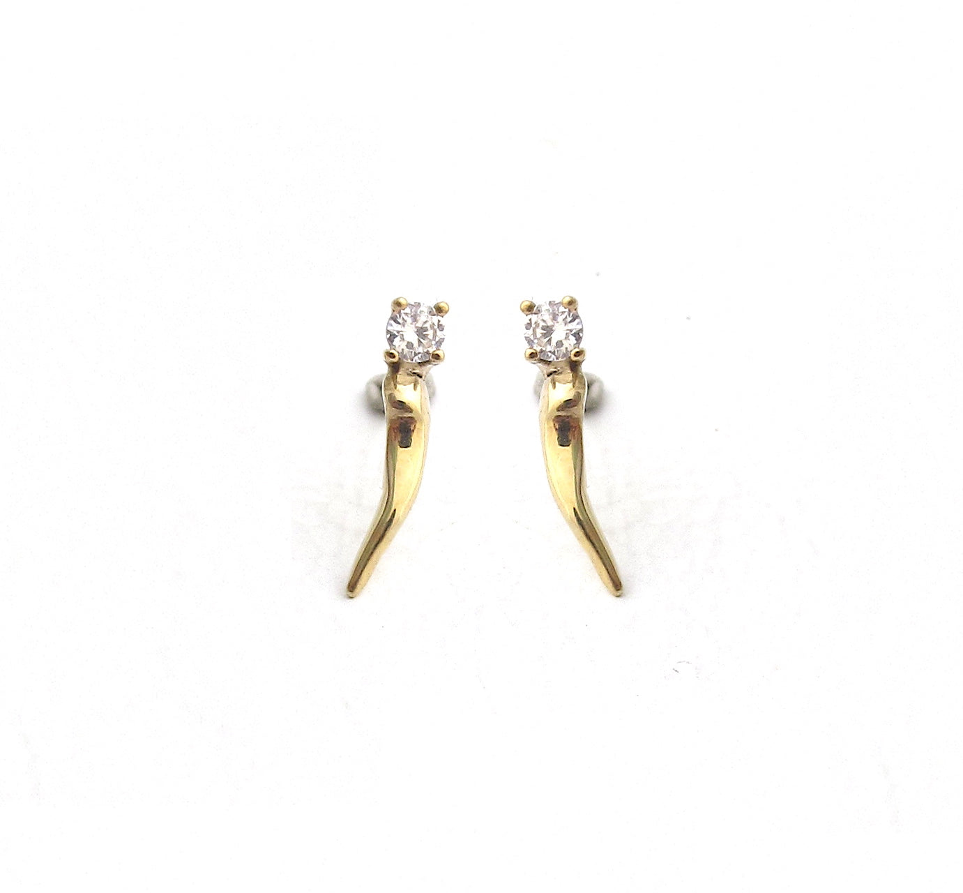 Thorn diamond stud earrings