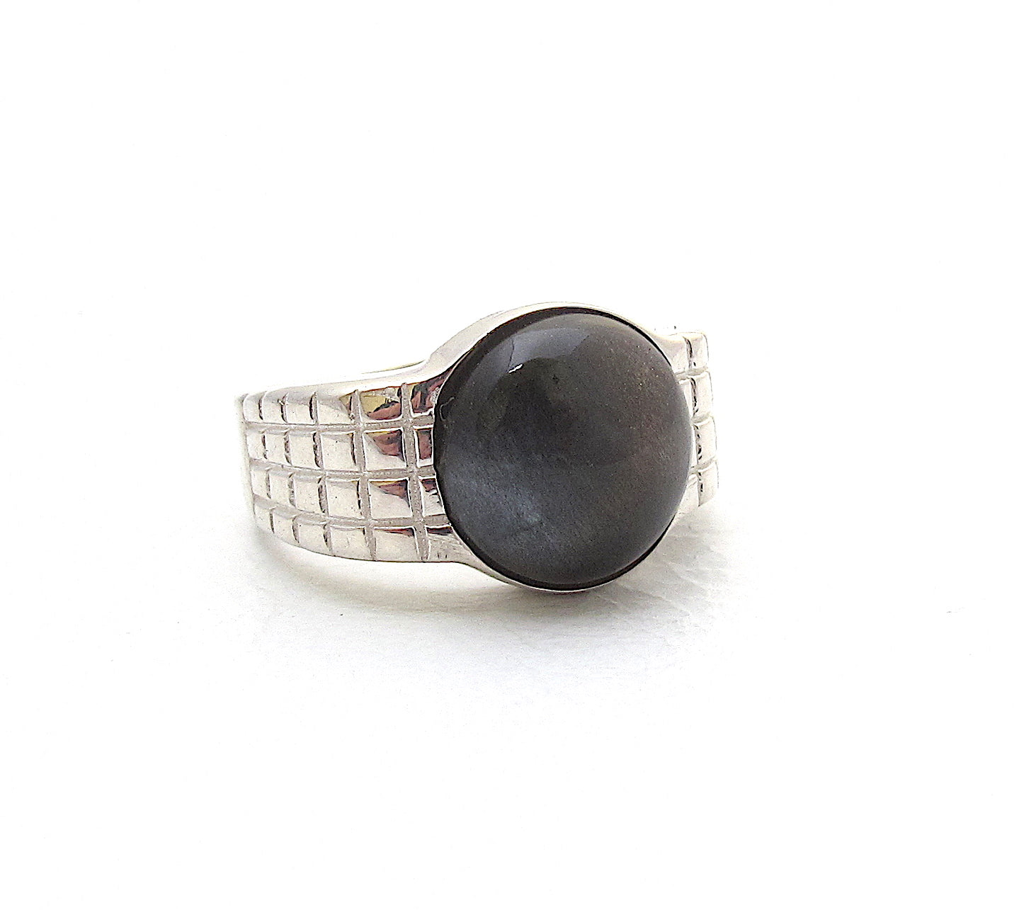 Lattice Black Moonstone Ring