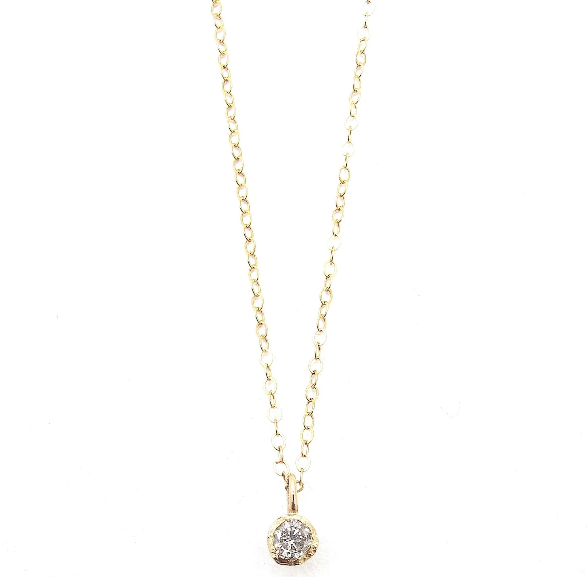 Fragment diamond solitaire pendant